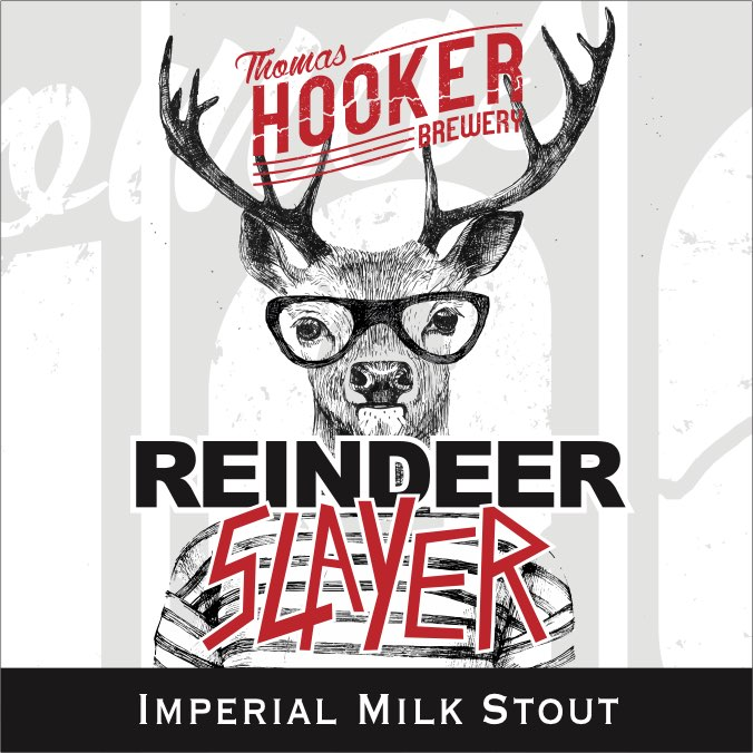 Reindeer Slayer Imperial Milk Stout Label